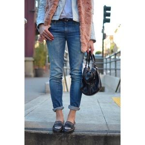 American Eagle Boyfriend Jeans Dark Wash Cropped